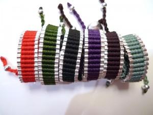 hacer pulseras colores