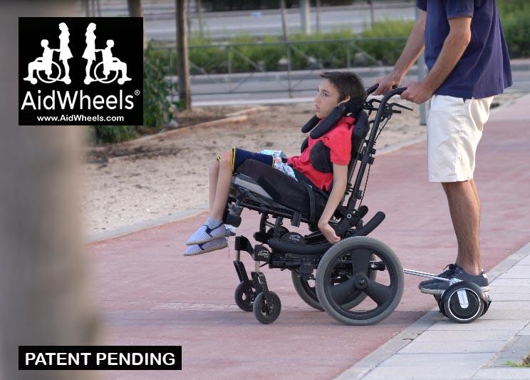silla de ruedas con hoverboard aidwheels