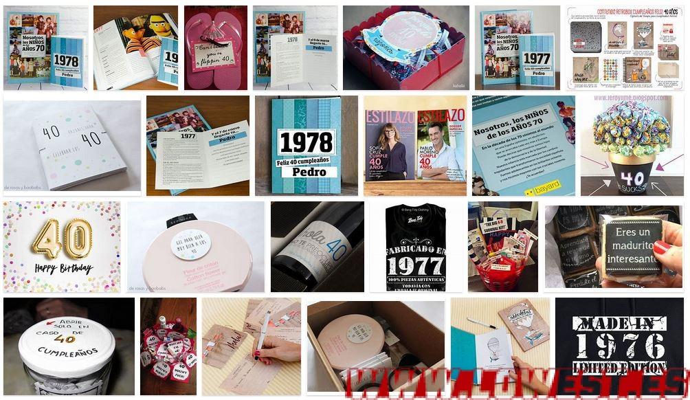 regalos 40 cumpleaños