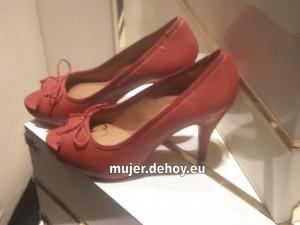 zapatos tacon rojo