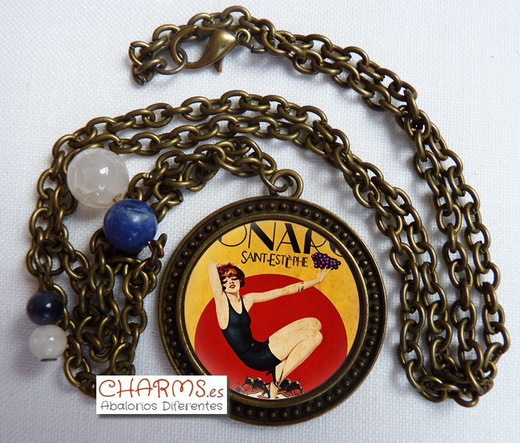 collar vintage colgante