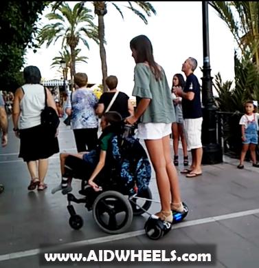 adaptar patinete a silla de ruedas hoverboard