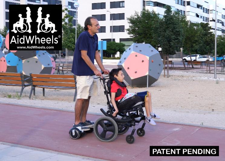 acoplar hoverboard a una silla de ruedas