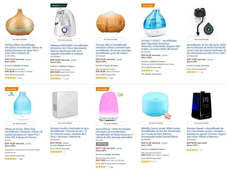 humidificadores de aire precios