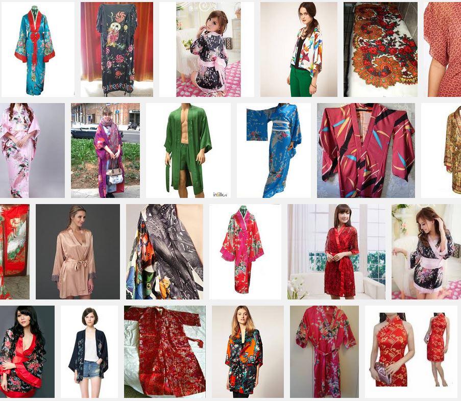 kimonos de seda