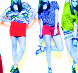 colores vestidos joven