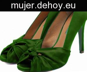 zapatos boda verdes