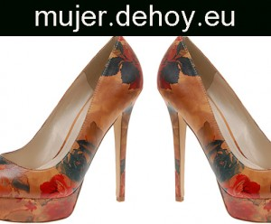zapatos mujer flores