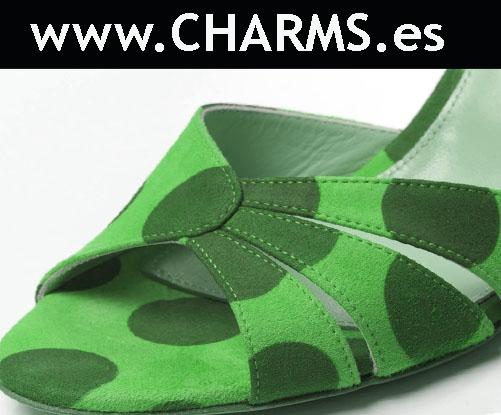 zapatos topos verdes