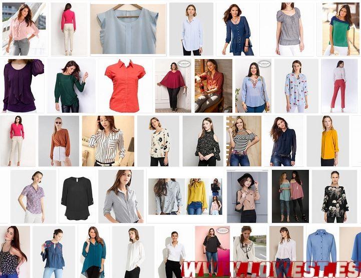 blusas de moda para mujer dama