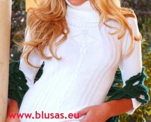 blusa blanca hippie