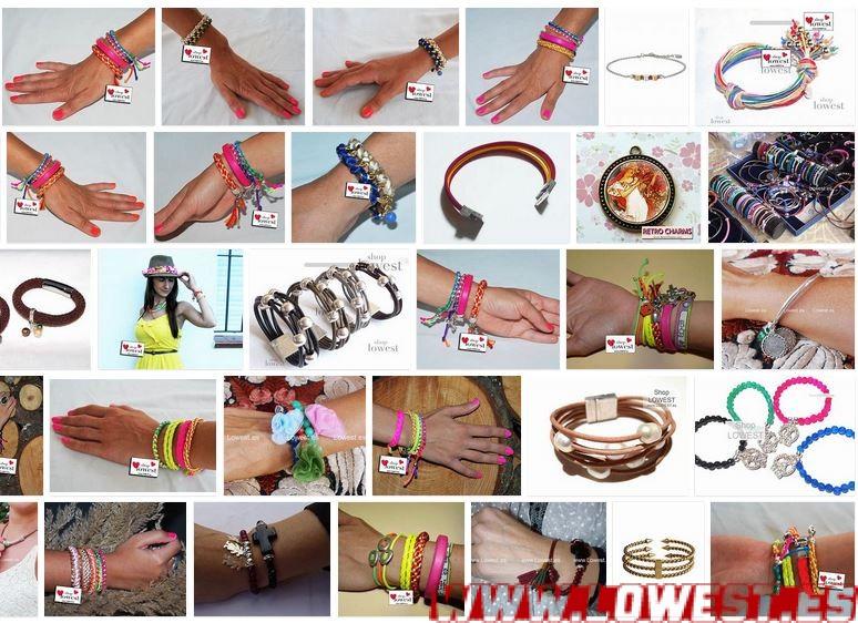 brazaletes moda mujer 2020 verano colores
