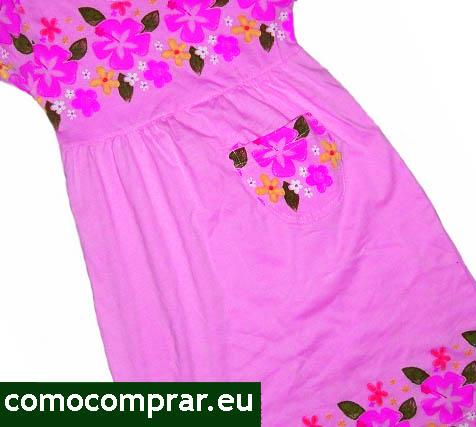 vestidos rosa niña