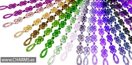 pulseras trebol colores