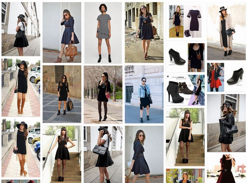 vestido negro botines