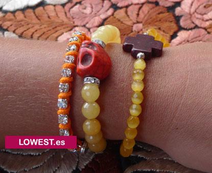 pulseras moda calaveras