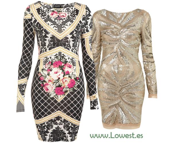 vestidos top shop
