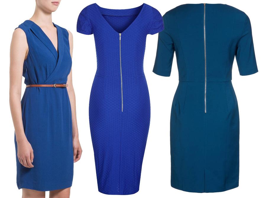 fotos vestidos azules mujer