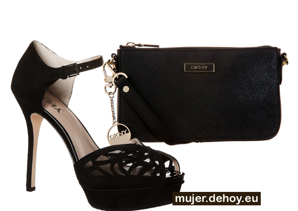zapatos tacon clutch