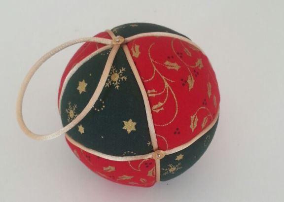 bola navidad decorada