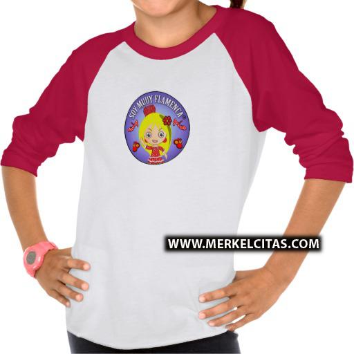 camisetas flamenca niña