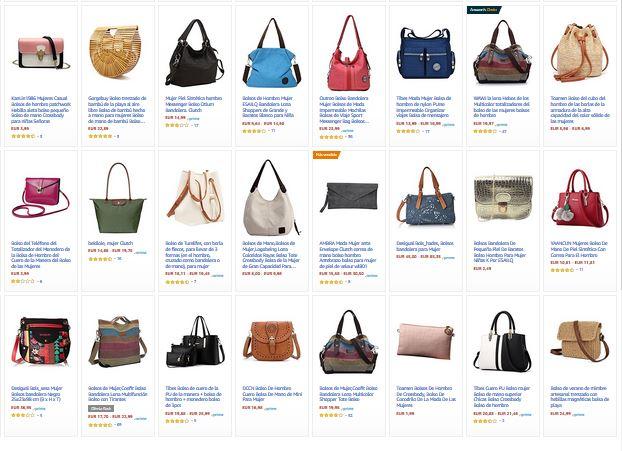ofertas en bolsos y complementos para mujer