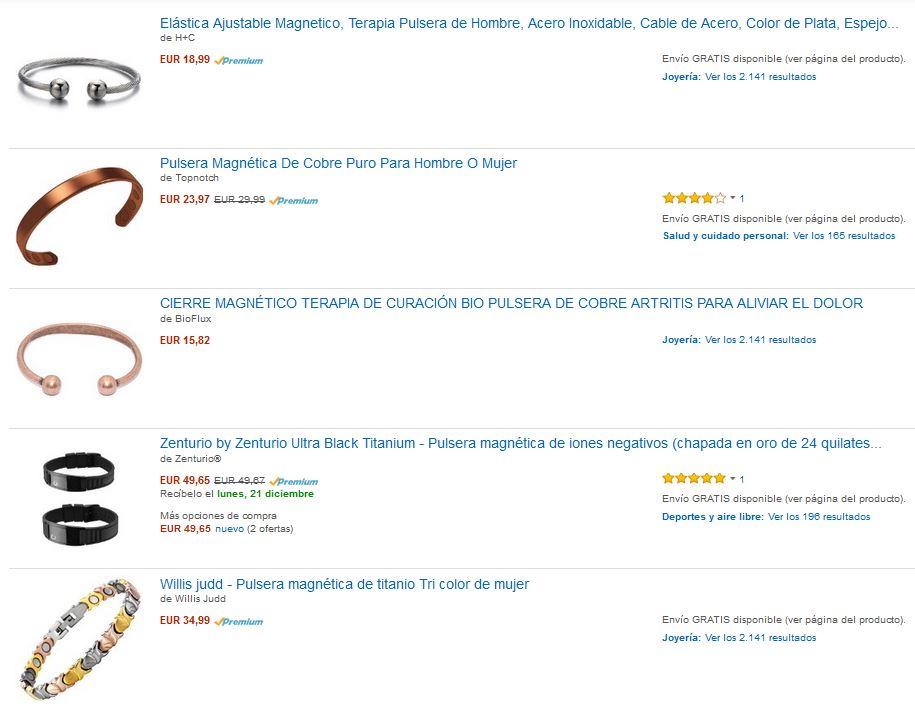 venta pulseras magneticas