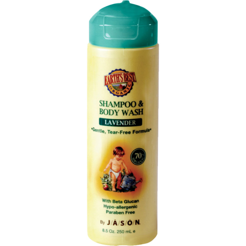 Champu y gel de ducha para bebe Earth's Best Baby Care de JASON (251ml)