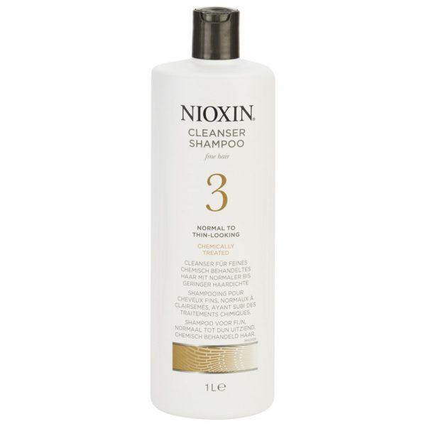 Champu purificante NIOXIN SYSTEM 3 - cabello tratado quimicamente (1000ml)