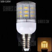 E14 10W 900LM 24 x 5630 SMD LED blanco calido de Luz Lampara de maiz con cubierta de rayas - 100 - 120V