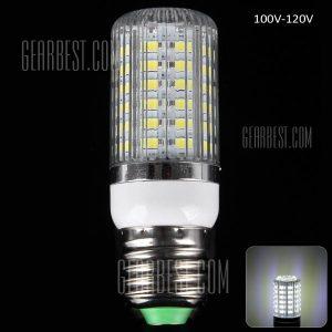 E27 18W SMD - 5630 56 - LED de luz blanca de luz 1650LM rayas creemos sombreada Lampara de Maiz (6000 - 6500K)