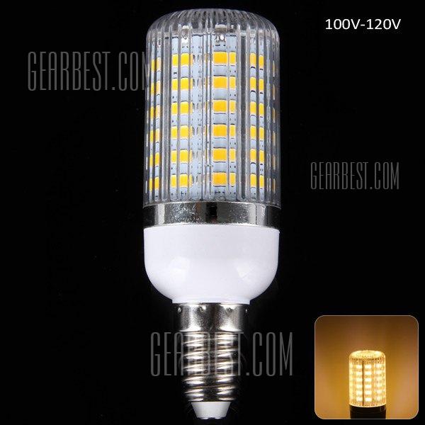 E14 18W 1650LM 56 x 5630 SMD LED blanco calido bombilla de maiz con cubierta de rayas - 3000 - 3200K