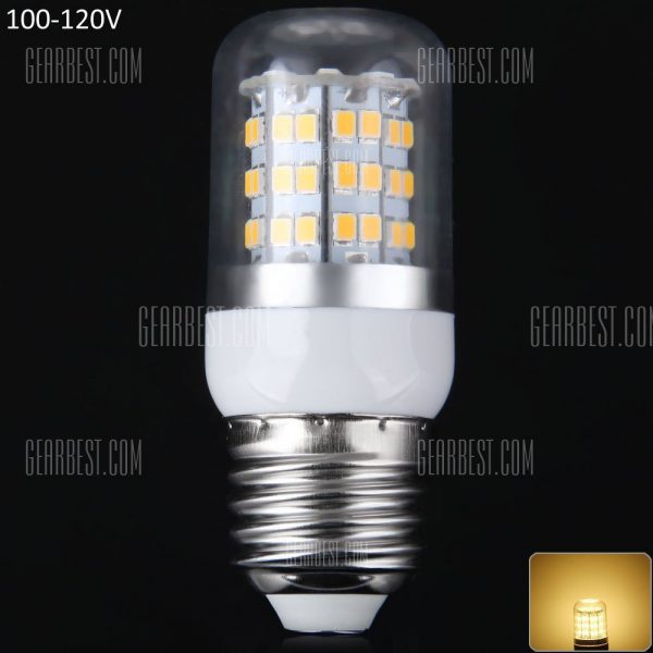 12W E27 - 60 LED SMD2835 1100LM LED Luz Lampara de filo de maiz Plata 100 - 120V 3000 - 3200K