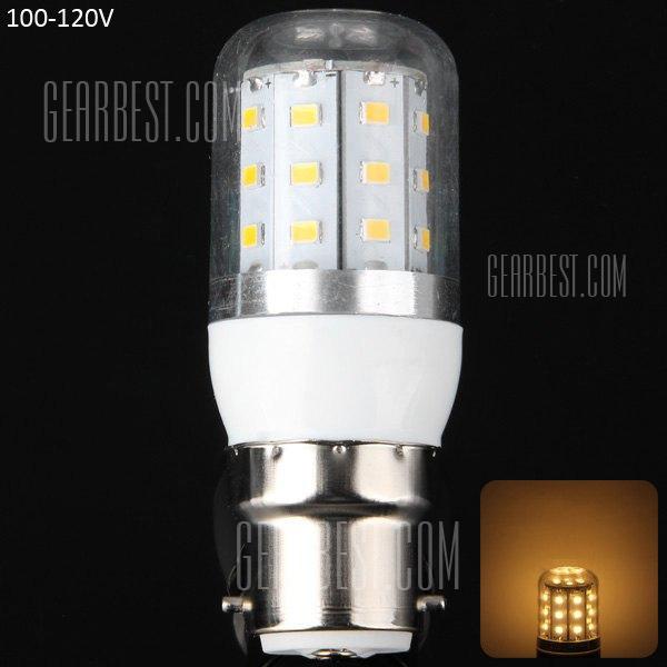 B22 8W 30 x 2,835 SMD 3000 - 3200K 750LM 100 - 120V LED Lampara de maiz con carcasa transparente