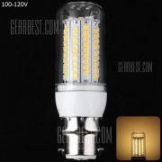 1800LM 20W B22 - SMD2835 102 LED blanco calido filo plata LED Lampara de maiz de 100 - 120 V