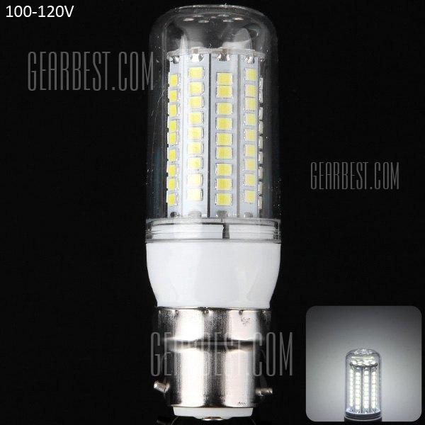 1800LM 20W B22 - SMD2835 102 LED de luz blanca LED Lampara de maiz de filo de plata 100 - 120V