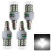 4 PCs de Zweihnder 6W E14 30 SMD 5730 5500 - 6000K 550LM LED Lampara de maiz con transparencia de sombra