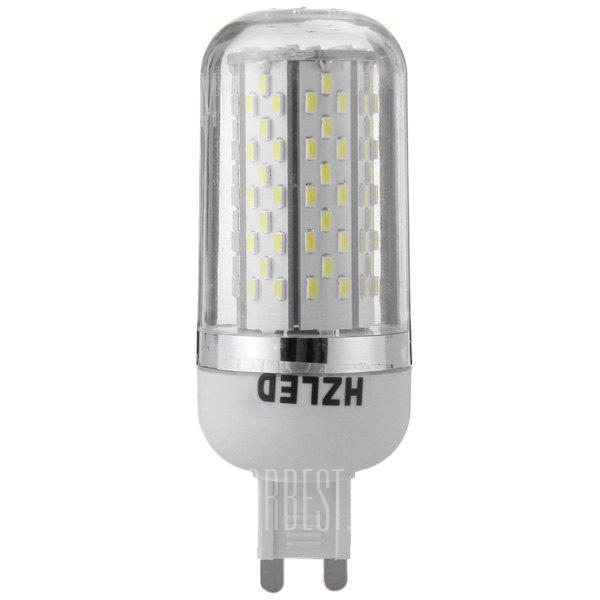 HZLED 5,5 W G9 120 x 3014 SMD 6000K 350LM LED Luz de maiz con filo de plata