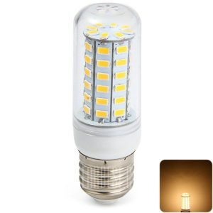 Sencart 11W E27 56 5730 SMD LED Lampara de maiz cubierta transparente bombilla ( 2200LM BLANCO suave )
