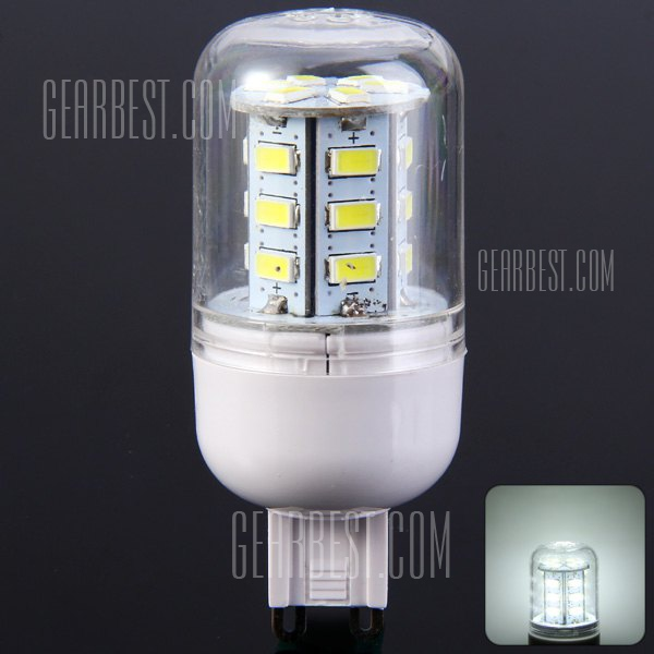 G9 3W 24 SMD LED 5730 300LM LED luz blanca pura de maiz 220 - 240V