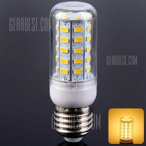 E27 7W 48 SMD LED 5730 700LM LED blanco calido de luz de maiz 220 - 240V