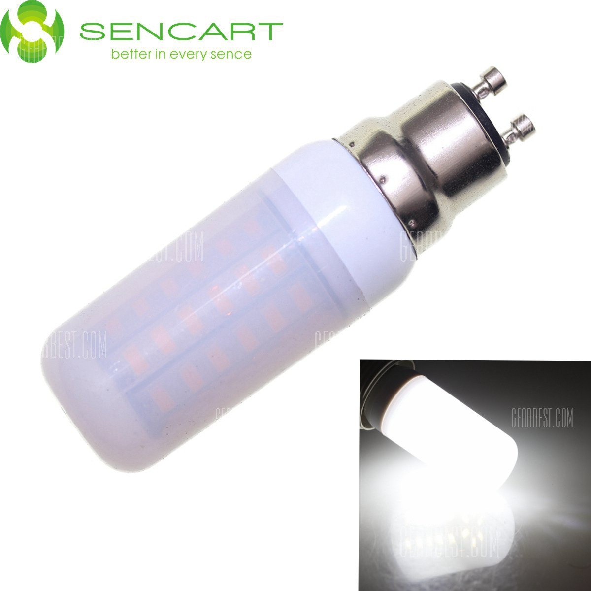 Sencart GU10 12W SMD - 5730 56 LED Lampara Luz LED blanca regulable 2200LM CA 110 - 240 V caso mate