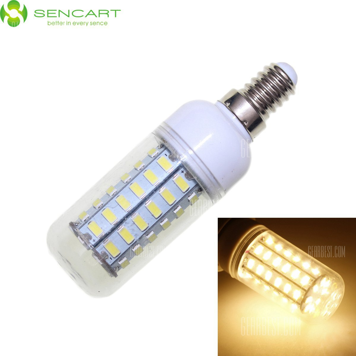 Sencart E14 12W - 5730 56 LED SMD suave regulable Bombilla de luz LED blanco 2200LM CA 110 - 240 V