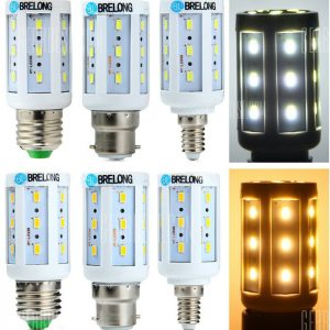 BRELONG B22 / E14 / E27 5W LED Lampara de maiz