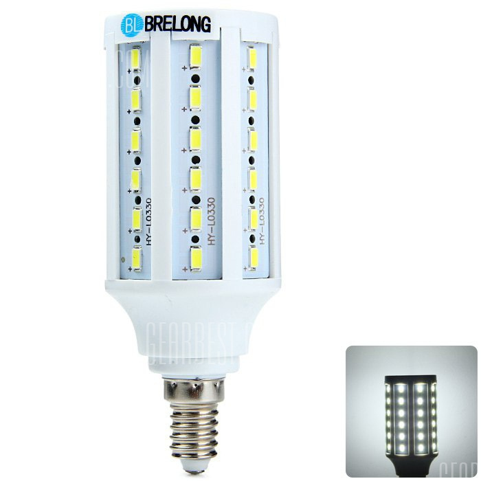 BRELONG E14 15W SMD LED Lampara de maiz 5730
