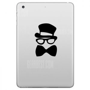 Extraible Hat-Prince piel decorativa Pegatina para iPad Mini con diseño de caballero