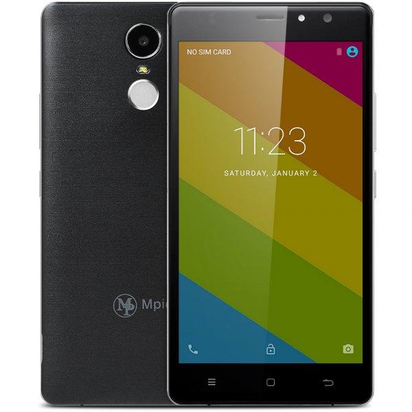 Mpie Y12 Andoid 6.0 5.5 pulgadas 3G phablet MTK6580 de cuatro nucleos a 1,3 GHz 1 GB de RAM de 8 GB ROM escaner de huellas dactilares A-GPS Bluetooth