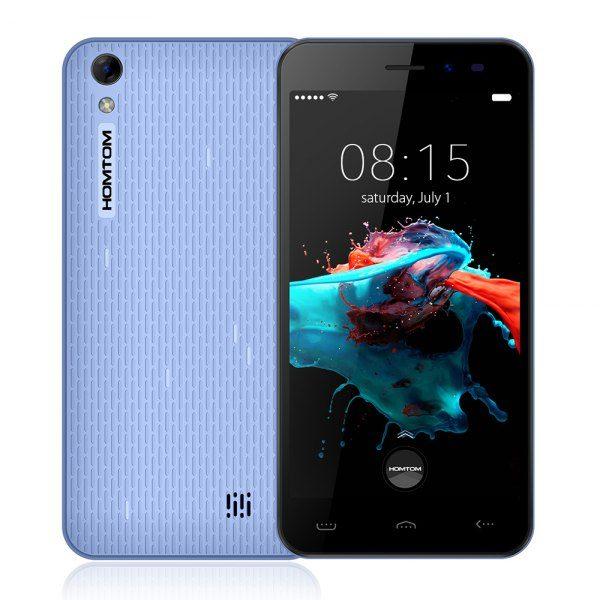 Homtom HT16 android 6.0 5.0 pulgadas Smartphone 3G MTK6580 de cuatro nucleos a 1,3 GHz 1 GB de RAM de 8 GB ROM despertador Gesto GPS A-GPS Bluetooth