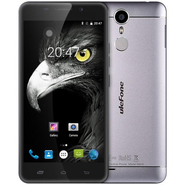 Ulefone metal android 6.0 5.0 pulgadas 4G Smartphone MTK6753 Octa Core a 1,3 GHz 3 GB de RAM 16 GB de ROM de la huella digital GPS Bluetooth 4.0 OTG