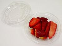 Fruta pelada fresas